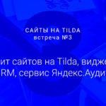 Студия дизайна «Чипса». Сайты на Tilda 3. Сервис Яндекс Аудитории, виджеты AmoCRM, аудит сайтов на Tilda