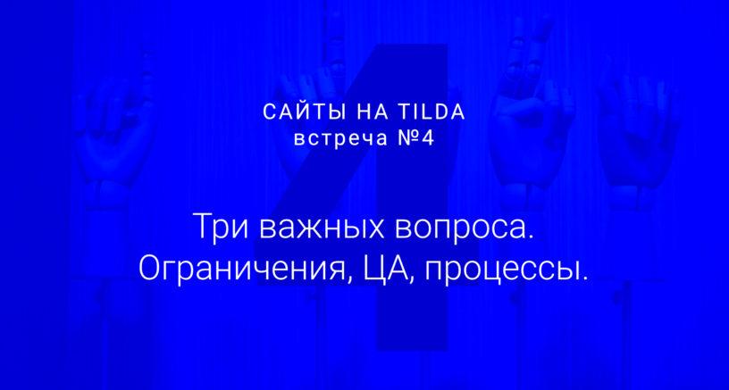 Студия дизайна «Чипса». Сайты на Tilda 4. Анализ целевой аудитории, ограничения Tilda, как не разочаровать посетителя?